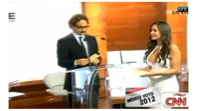 """La """"exconejita"""" Julia Orayen defiende su escote en debate presidencial mexicano"""