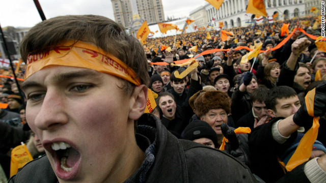 The controversy is a far cry from the euphoria that followed the Orange Revolution in 2004 and 2005. The uprising was sparked when Viktor Yushchenko lost the presidential election to the then prime minister Viktor Yanukovych after alleged voter fraud.