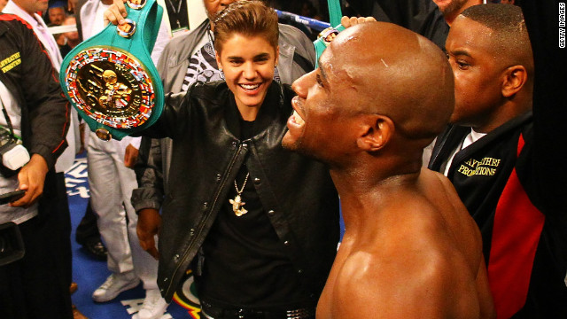Justin Bieber hits Vegas for Mayweather fight