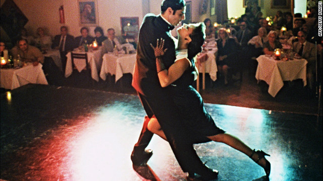 A glimpse inside the &quot;Galeria del Tango Argentino,&quot; one of the most famous bar-restaurants offering a tango show to its customers. 
