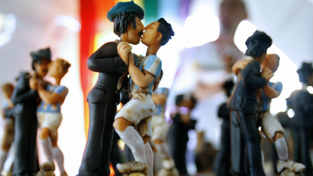Tango has also been heartily embraced by the city's gay community. Aside from going to tango club nights and bars dedicated to gay tangueros, you can even buy souvenirs of tango dancers kissing Argentine footballers, originally sold during the Gay Football World Championship in Buenos Aires in 2007.