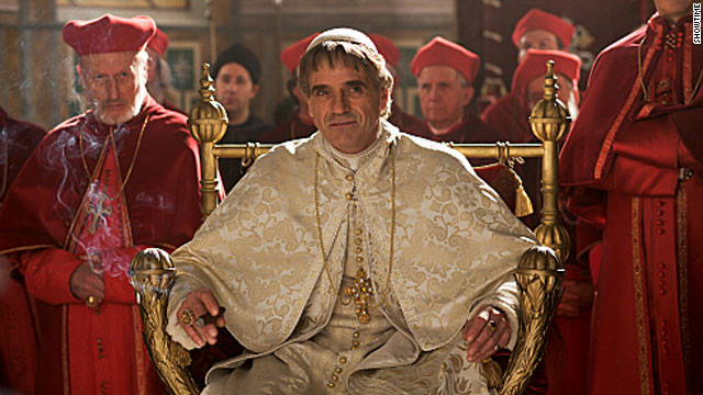 Jeremy Irons, shown here as Rodrigo Borgia in the second season of
