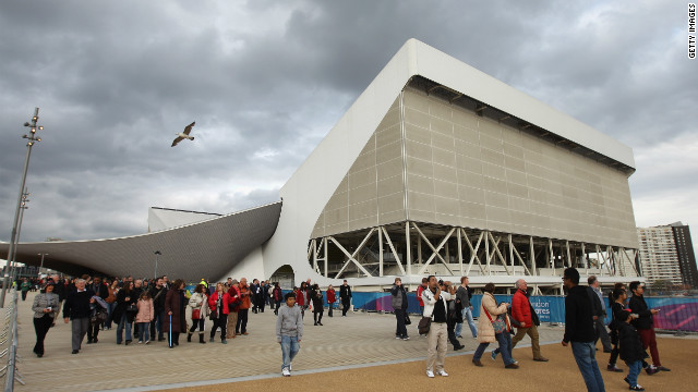 It was the first time many visitors had walked around the Olympic grounds, including the new aquatics center. They appeared cautiously optimistic about the site, with one family telling CNN the seats were comfortable but there was a lack of rubbish bins.<br/><br/><br/><br/>&#8221; border=&#8221;0&#8243;/><cite style=