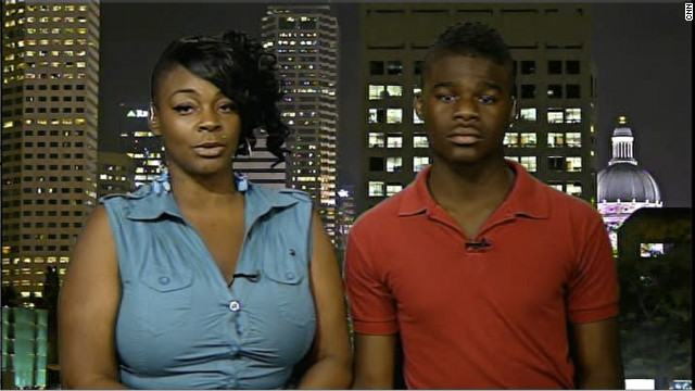 Chelisa Grimes and her son, Darnell Young, tell CNN why the 17-year-old took a stun gun to school.