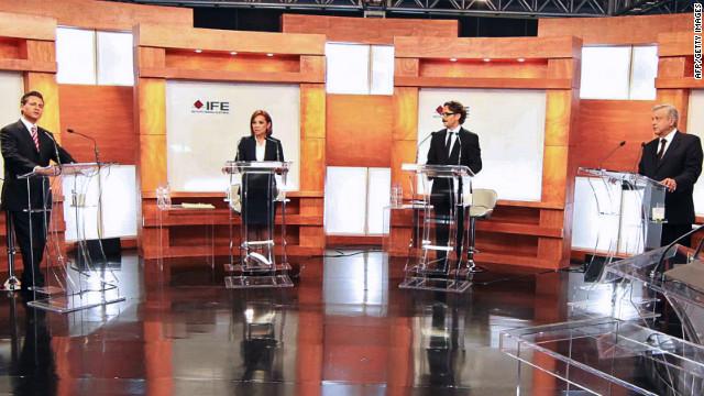 Fuego cruzado entre candidatos durante primer debate presidencial en México
