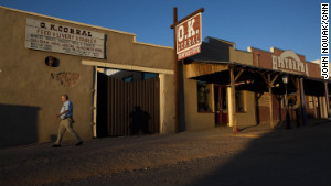 Wyatt Earp and Doc Holliday were in a famous gunfight with outlaw cowboys at Tombstone\'s O.K. Corral in 1881.