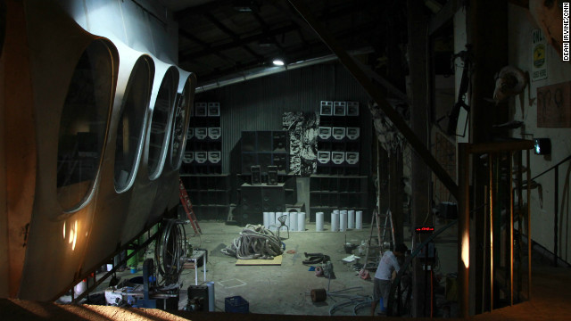 Acrorss from Cordero's studio is a fabrication workshop run by Jeremy Guiab where Cordero and other artists make their larger than life sculptures.