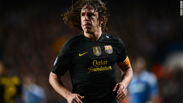 Barcelona defender Carles Puyol played all but seven minutes of Spain's successful World Cup campaign in 2010