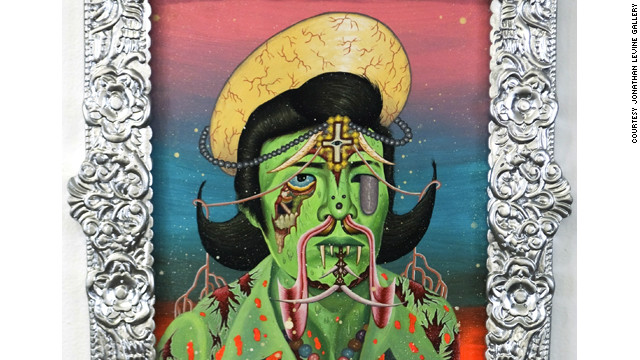 Visceral, bizarre and with a bit of cartoon gore, Cordero mixes traditional folklore with more contemporary influcences; a mishmash that he says often reflects life and culture in the Philippines.