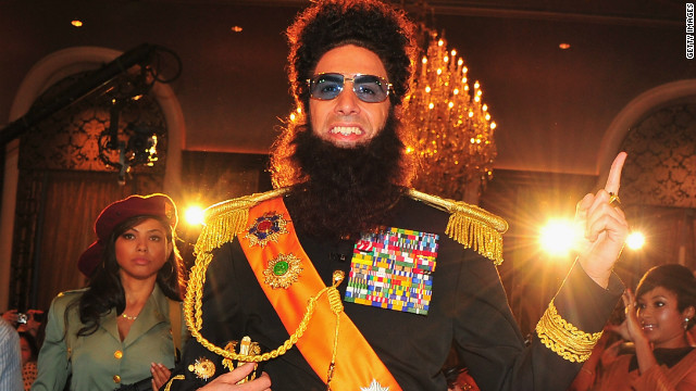 Sacha Baron Cohen still doing press as 'The Dictator'