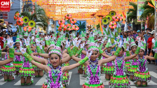 "The annual week-long Coco Festival is held in San Pablo City to honor the patron Saint Paul the Hermit . A highlight is the street dancing competition between schoolchildren dressed in costumes made from coconuts. iReporter Toni Gutierrez says the five-time consecutive winner San Pablo Central Elementary School (pictured) ""signifies determination and the importance of keeping values and tradition alive."""
