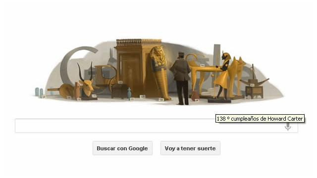 Los secretos de Tutankamón en un «doodle»