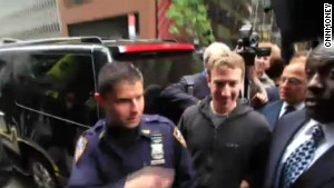 Facebook CEO Mark Zuckerberg in New York before his company\'s initial public offering.