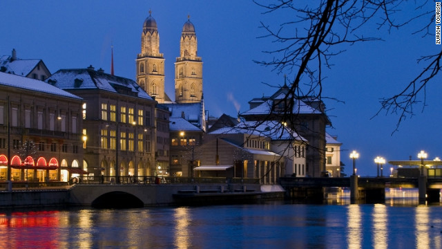 The Grossmunster is another Zurich must-see -- a Romanesque-style protestant church.