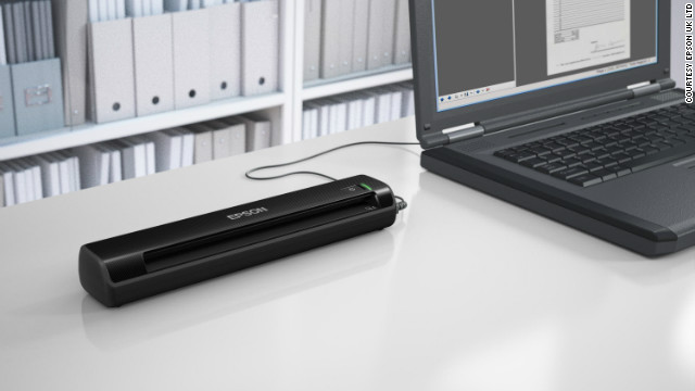 The Epson WorkForce DS-30 is a lightweight portable scanner that can digitize and capture the contents of large pieces of paper.