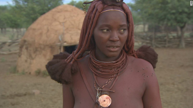 <i>Otjize</i> sometimes contains aromatic resin from a local shrub to provide an appealing fragrance. It is applied by Himba women every morning, but never by men.