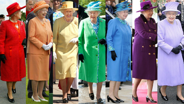 Bright, bold and beautiful -- the Queen has never shied away from strong colors and daring hats.
