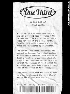 Inspired by a study by the U.N. that found a third of all food is wasted worldwide, Austrian artist Klaus Pichler created a remarkable set of images using rotting food products from around the globe.<!-- --> </br><!-- --> </br> In each picture, Pichler provides figures (aquired with the assitance of Austrian NGO Global2000) for transport distance and carbon footprint, all in relation to his home city of Vienna.