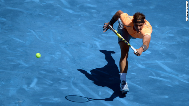 Rafael Nadal had little problems dealing with Madrid's controversial new blue clay.
