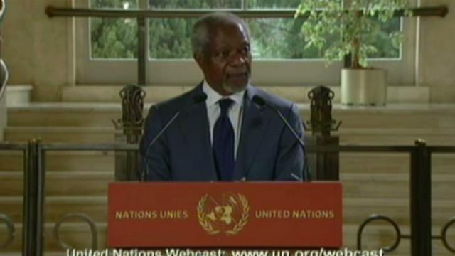 Annan: El sufrimiento de Siria tiene que terminar ahora