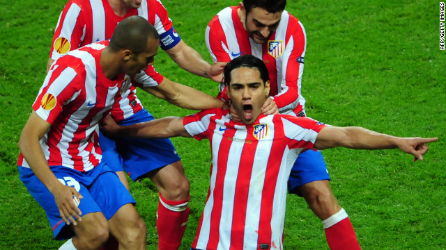 Atletico is enjoying a successful season with the club second in La Liga, through to the semifinals of the Spanish Cup and also in contention to retain its Europa League title. Falcao has been central to the team's impressive run of form, scoring 18 goals in the league so far this term.