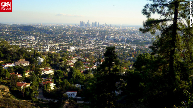 """So many reasons to love L.A., the weather, the mountains that supply L.A. with a beautiful backdrop, the MIX of people making L.A. the Melting Pot of the USA. It's all here,"" wrote iReporter Marie Sager, who captured this view of Los Angeles from the Griffith Observatory."
