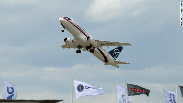 A Sukhoi Superjet 100 performs at the International Paris Air Show on June 22, 2011.