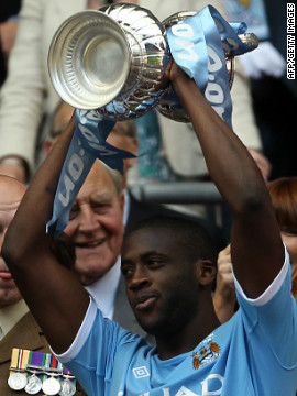 The Ivory Coast international scored the only goal in last year's English FA Cup final against Stoke, ending a 35-year trophy drought for City.