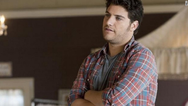"""Happy Endings'"" Max Blum, played by Adam Pally, is openly gay. His friends persuade him to come out to his parents during the show's first season."