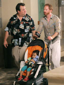 """Modern Family's"" Mitchell Pritchett (Jesse Tyler Ferguson) and Cameron Tucker (Eric Stonestreet) adopted a baby girl named Lily on the sitcom's pilot episode in 2009. The pair made plans to adopt another child during the third season of the show, which currently airs on ABC."