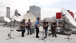 Band jams on CNN's roof