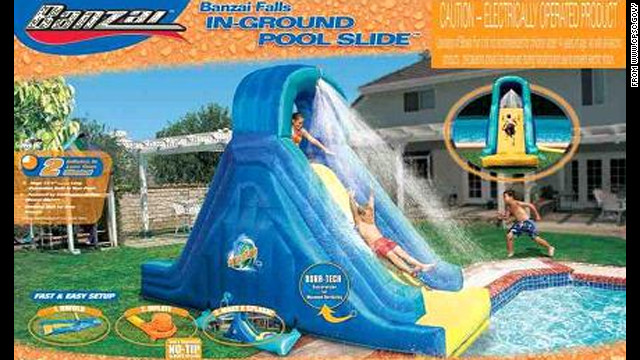 The U.S. Consumer Product Safety Commission says the slide can deflate during use.