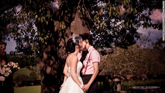 Their marriage had all the hallmarks of a traditional wedding, except two women were involved -- and their union is not recognized under Australian law. <a href='http://twobirdsnest.com/' target='_blank'>Twobirdsnest.com</a>