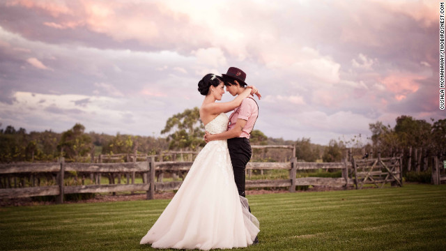 Cushla and Tania were married on a farm outside Sydney on March 9, 2012. The entire family attended the ceremony, including Tania's grandparents who are Muslim.