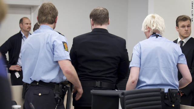 Shoe thrown at Norway mass killer during trial