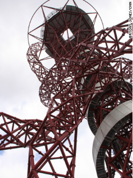 "Johnson claimed the swirling, bright red sculpture, was ""more complex"" than the Eiffel Tower, and ""endlessly rewarding"" for the viewer."