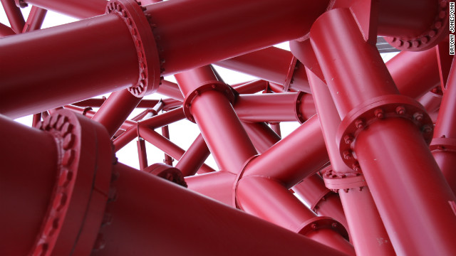Anish Kapoor said he chose red -- a color that features in much of his work -- to make sure the sculpture stood out among the grey and white Olympic venues.