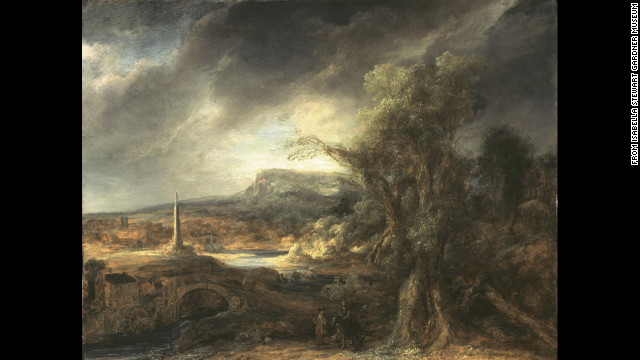 """Landscape with an Obelisk"" by Govaert Flinck"