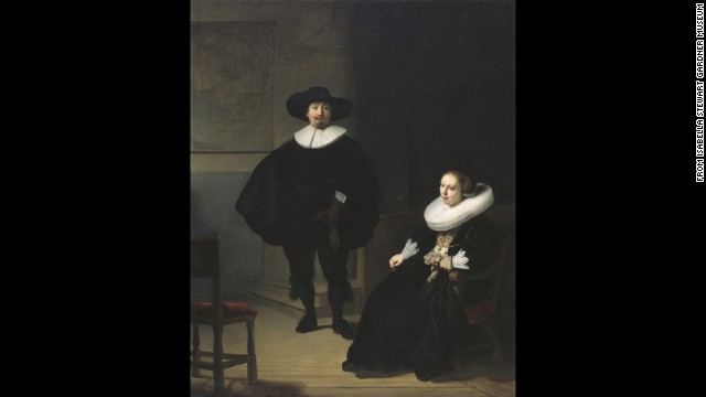 &quot;A Lady and Gentleman in Black&quot; by Rembrandt