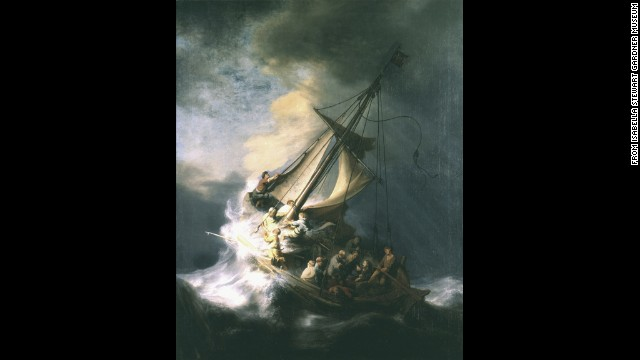 &quot;The Storm on the Sea of Galilee,&quot; the only seasscape painted by Rembrandt.