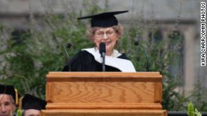 Dawson received an honorary degree at Atlanta's Oglethorpe University on Saturday.