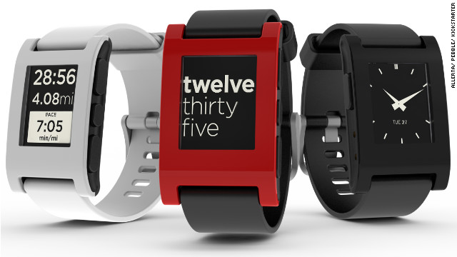 The Pebble smartwatch wirelessly connects with your smartphone to alert you of incoming calls and messages.