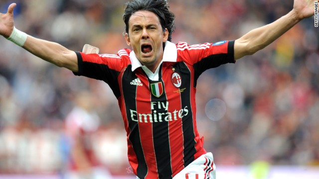 Filippo Inzaghi was a favorite with fans during his playing days at Milan.