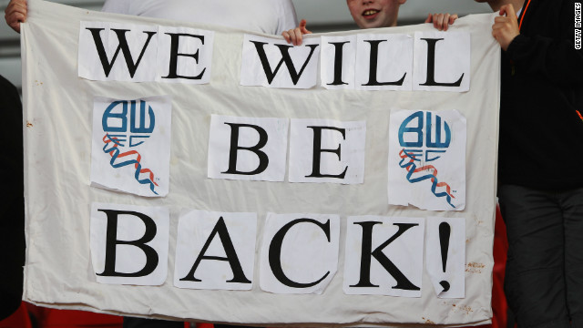 Defeat in Manchester would have sent QPR down, if Bolton Wanderers had beaten Stoke City. But Owen Coyle's team could only draw 2-2 at the Britannia Stadium, a result which ended Bolton's 11-year stay in the Premier League.