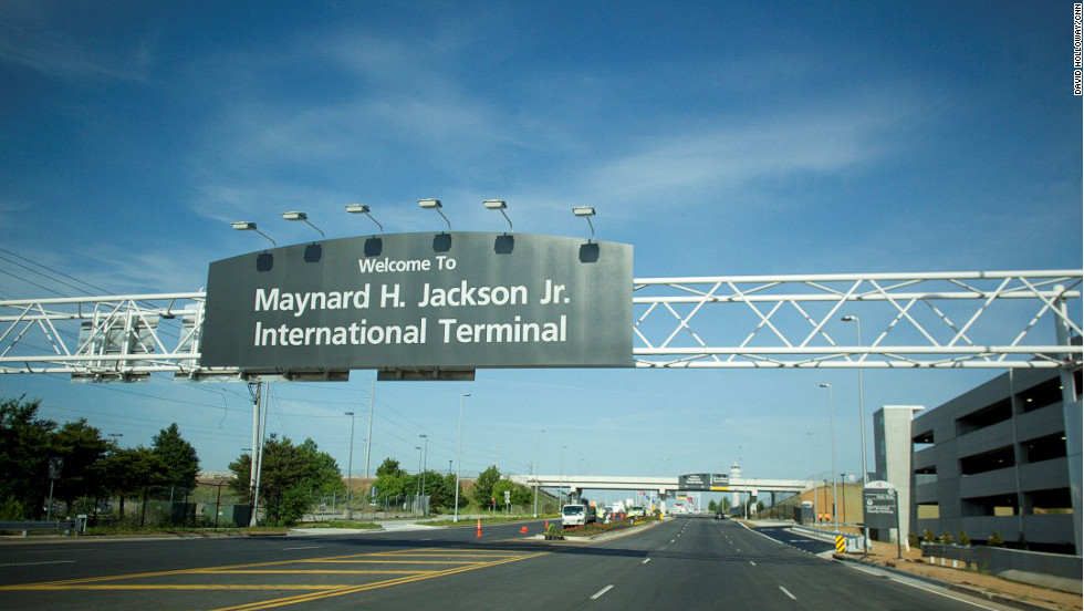 Atlanta's new international terminal is named for Maynard H. Jackson Jr., the city's first black mayor. The terminal opens May 16 and is accessed via Interstate 75, rather than via I-85, which is how domestic travelers reach the rest of the airport.