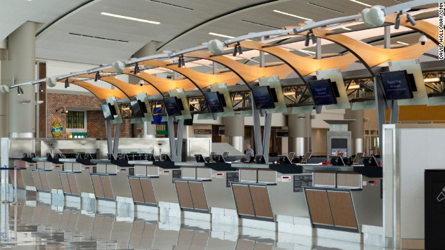 Passengers check in for all international flights at the new terminal. There's a free shuttle at the west end of the domestic terminal to take travelers to the international terminal. Atlanta's MARTA rail service does not extend to the new terminal.
