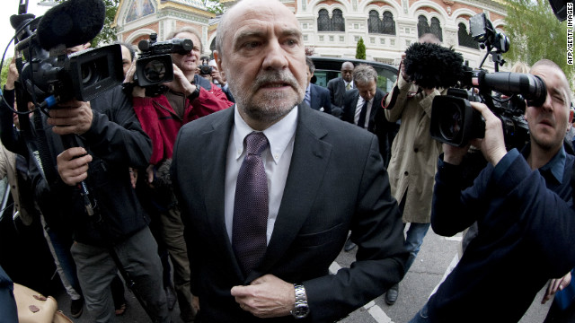 IAEA chief inspector Herman Nackaerts arrives at the Iranian permanent mission to the UN on May 14, 2012 in Vienna.