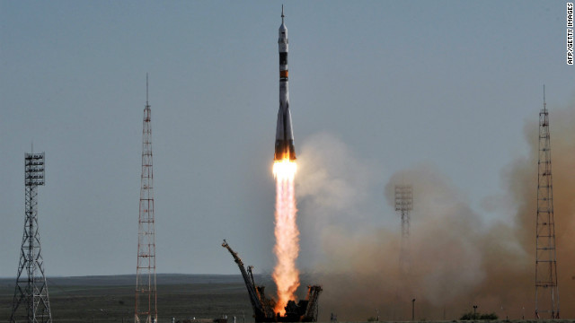 Russia's Soyuz TMA-04M spacecraft with the International Space Station Expedition 31/32 aboard blasts off on May 15.