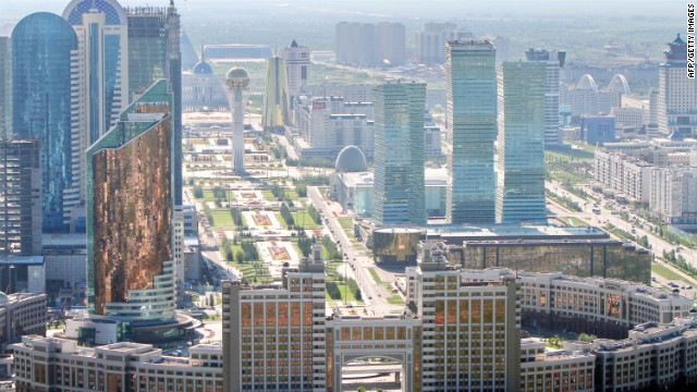 Kazakhstan is the world's 9th largest country that stretches from the Caspian Sea in the west to its eastern boarder with northwest China. The former Soviet state gained independence in 1991 Astana (pictured) was made the capital in 1997, taking the honor from Almaty, which is the country's largest city. 