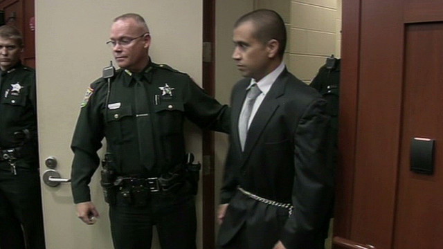 George Zimmerman walks into court for a recent appearance.